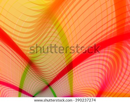 Abstract striped background. Rhythmic colorful lines. EPS10 with transparency. Colorful background. Abstract composition with curve lines. Abstract 3d effect. Illusion of three dimensional surface. - stock vector