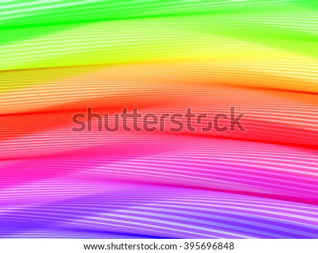 Abstract striped background. Rhythmic colorful lines. EPS10 with transparency. Spectrum background. Abstract composition with curve lines. Abstract 3d effect. Illusion of three dimensional surface. - stock vector