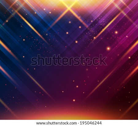 Abstract striped background with light effects. Vector image.  - stock vector