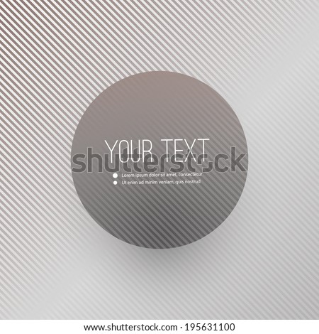 Abstract Striped Background with Minimal Round Text Box Design - Eps 10 Vector Illustration - stock vector