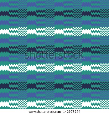Abstract striped textured geometric sea waves. Seamless pattern. Vector.