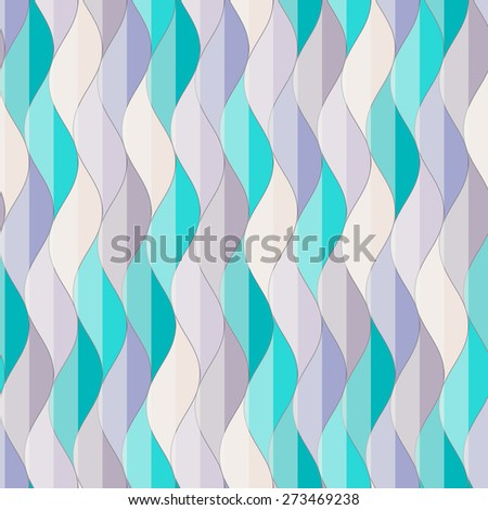 abstract striped wavy seamless pattern - stock vector