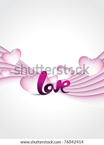 abstract stripes background with pink macro hearts - stock vector