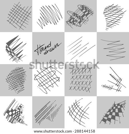 Abstract strokes drawn with a pencil - stock vector