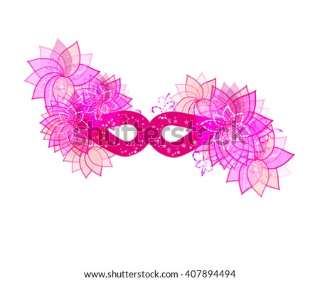 abstract style pink mask - stock vector
