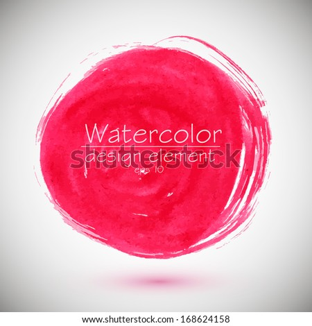 Abstract stylish background, pink circle. Vector illustration  - stock vector