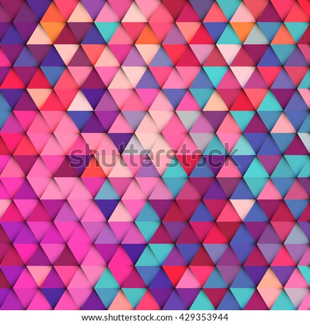 Abstract stylish geometric background with vibrant color tone. - stock vector