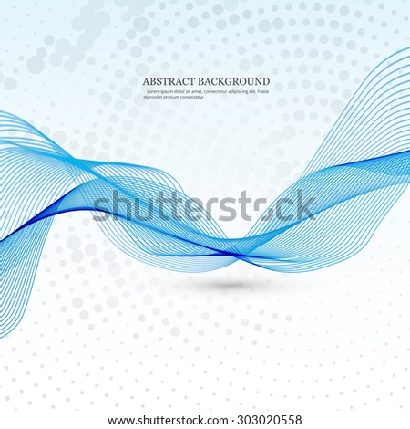Abstract stylish line blue colorful business wave background - stock vector
