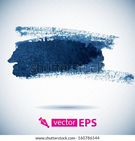 Abstract stylish watercolor background. Vector illustration. Blue colorful vector abstract brush stroke and splatter background. Grunge vector hand drawn background. Ink splatter
