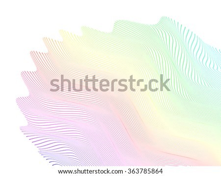 abstract stylized lines, vector - stock vector