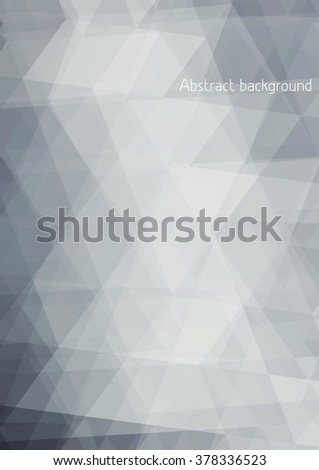 Abstract subtle grey background textured by triangles. Vector graphic pattern