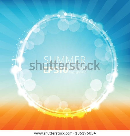 Abstract summer background, sunny beach - vector illustration - stock vector