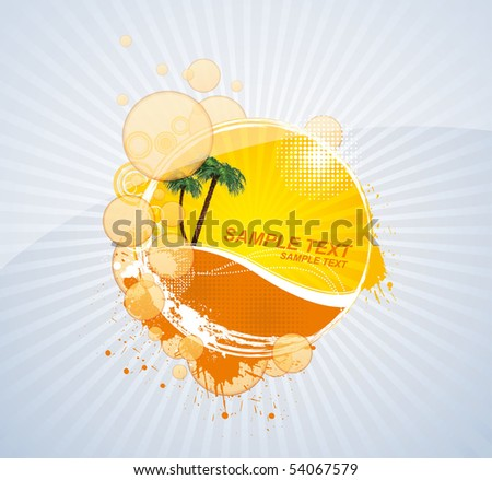 Abstract summer background. Vector.