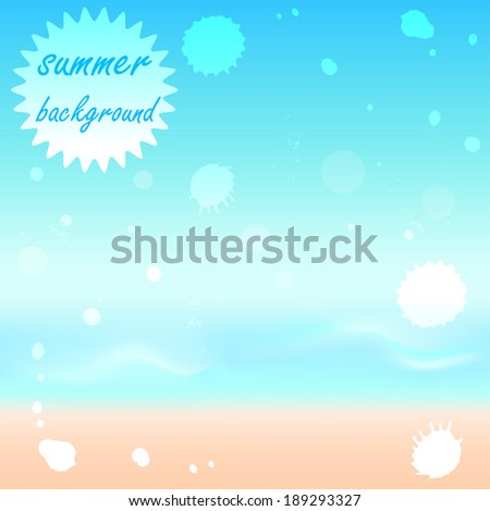 Abstract summer background. Vector  illustration