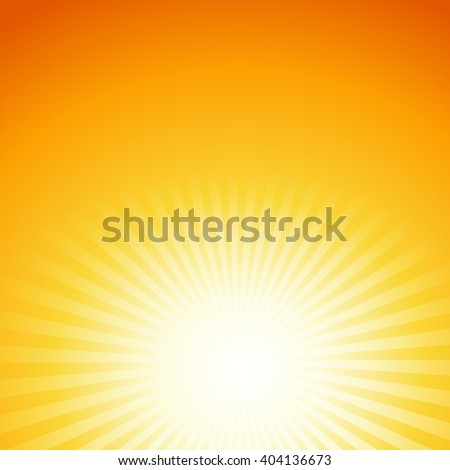 abstract summer background with sun rays