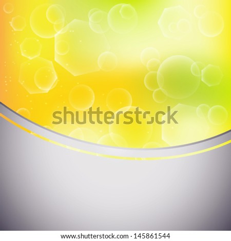 abstract summer blur background with white bubbles
