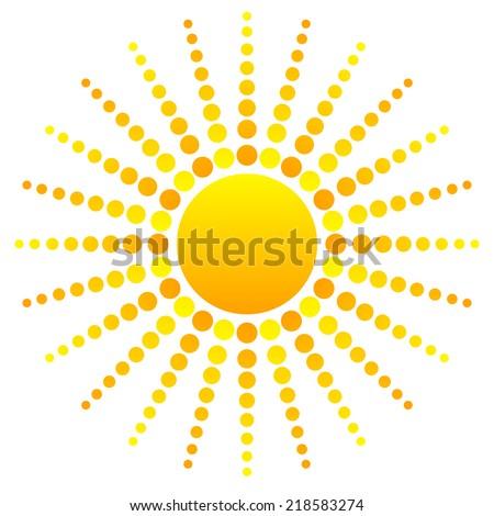 Abstract sun clipart - stock vector