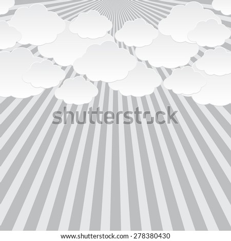 Abstract sun clouds background