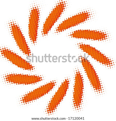abstract sun (dotted design series) - stock vector