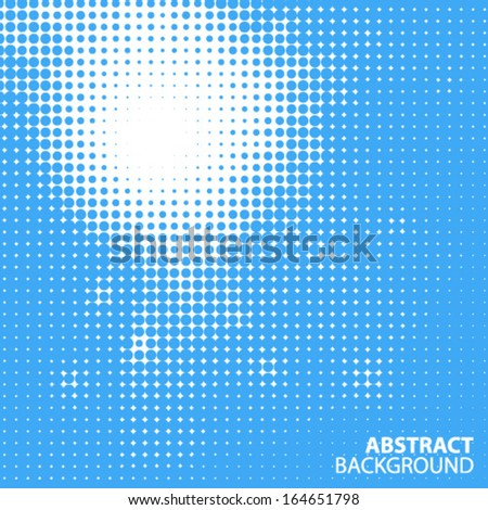 Abstract Sun in the sky Halftone Background, vector illustration  - stock vector