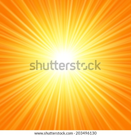 Abstract sun light vector background - stock vector