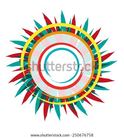 Abstract Sun with colorful rays. Icon or logo concept. - stock vector
