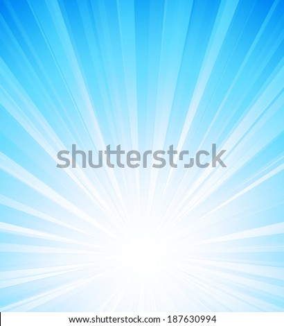 Abstract sunlight background. Blue burst  - stock vector
