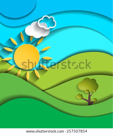 Abstract sunny day background, cover, card... Vector eps10. - stock vector