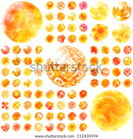 Abstract sunny set. Great collection. - stock vector