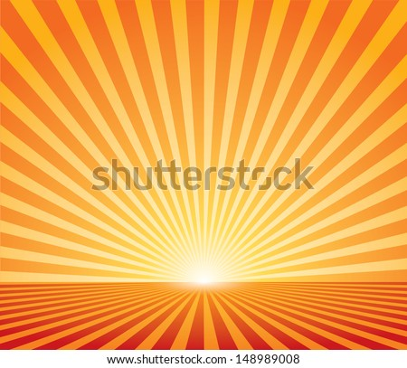 Abstract sunset vector background. - stock vector
