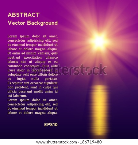 Abstract sunset  vector illustration eps 10 - stock vector