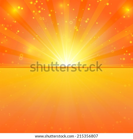 Abstract sunshine vector background with place for text