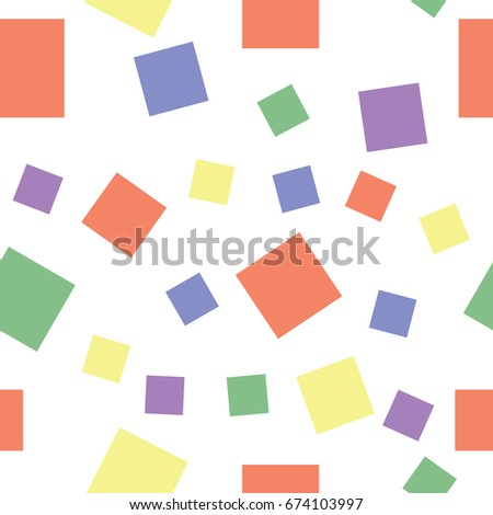 Abstract sweet squares seamless children background