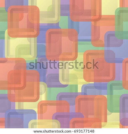 Abstract sweet squares seamless children background. Colored steackers.