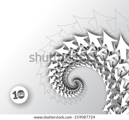 Abstract Swirl Arrow Background - stock vector