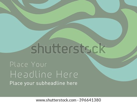 Abstract swirl background template design/ Moving wave band vector art layout design - stock vector