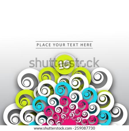 Abstract Swirl Design, eps10 vector - stock vector