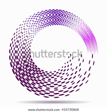 Abstract swirl dots illustration vector design.