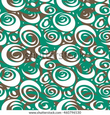 Abstract swirl lines pattern seamless background tile