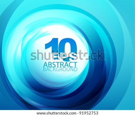 Abstract swirl techno background - stock vector