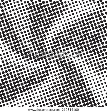 Abstract swirl texture with halftone effect. The black dots on a white background. - stock vector