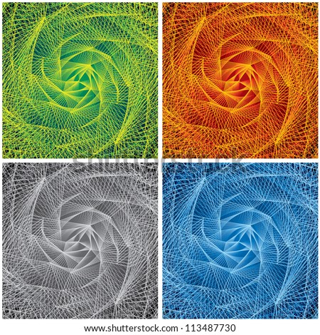 Abstract Swirl Vector Backgrounds. - stock vector