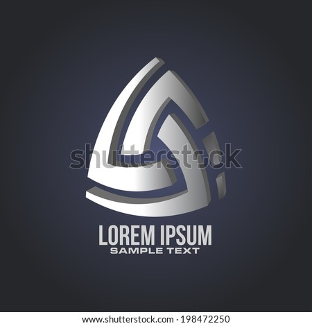 abstract symbol icon design in vector format - stock vector