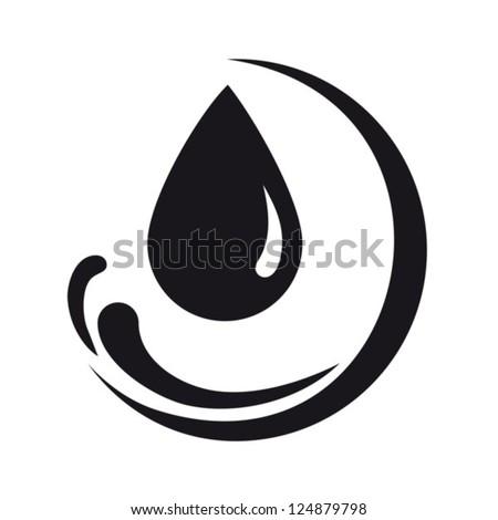 Abstract symbol  of a drop. Vector. EPS-10 (non transparent elements, non gradient) - stock vector