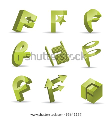 Abstract Symbols Icon Set EPS 8 vector, grouped for easy editing. No opens shapes or paths.