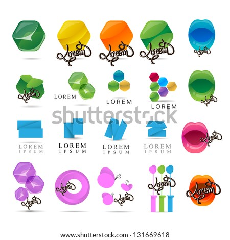 Abstract Symbols - Isolated On White Background - Vector Illustration, Graphic Design Editable For Your Design. Logo Symbols - stock vector