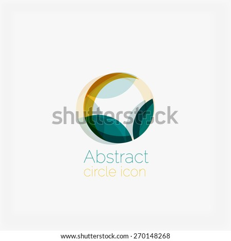 Abstract symmetric geometric shapes, business icon. Vector icon - stock vector