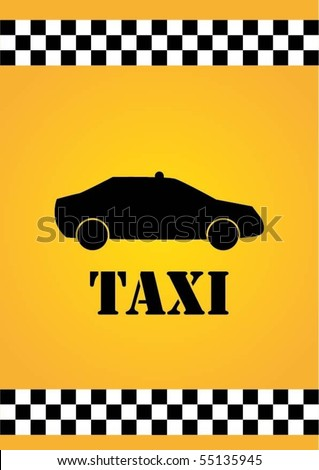 Abstract taxi - stock vector