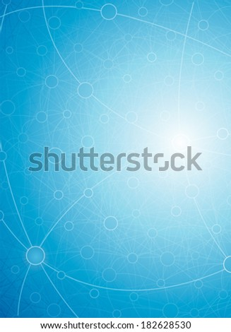 Abstract tech background of molecules connection. - stock vector