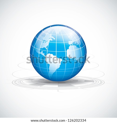 Abstract tech circles background design.World technology vector